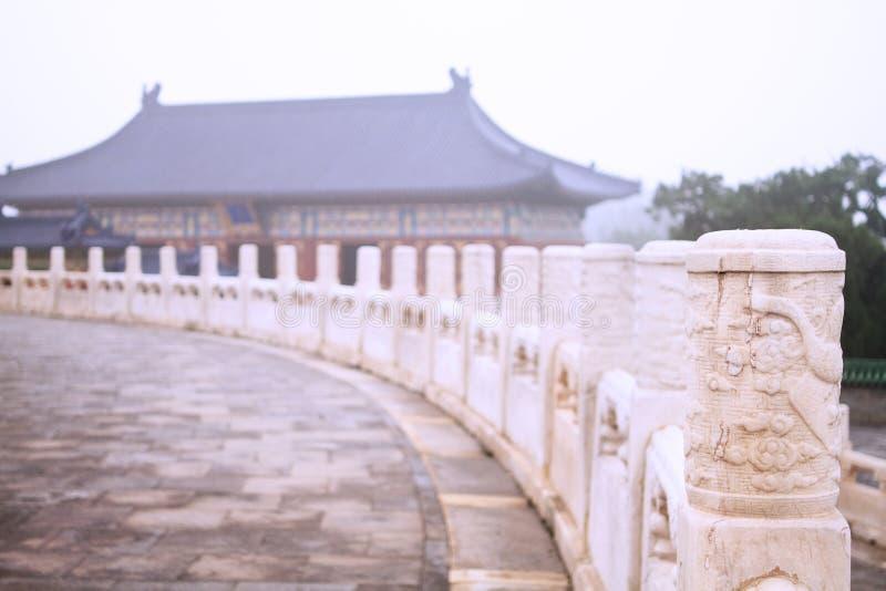 Paesaggio del tempio del cielo fotografie stock libere da diritti