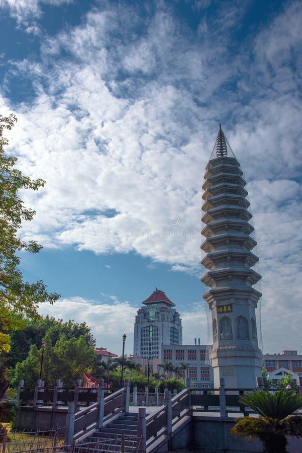 Paesaggio del tempio di Nanputuo fotografia stock libera da diritti
