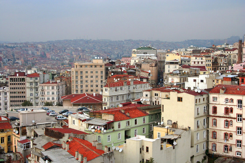 Paesaggio del tetto di Costantinopoli fotografia stock