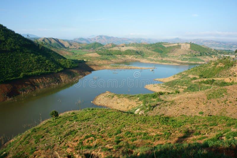 Paesaggio del Vietnam, montagna, collina nuda, disboscamento fotografia stock libera da diritti