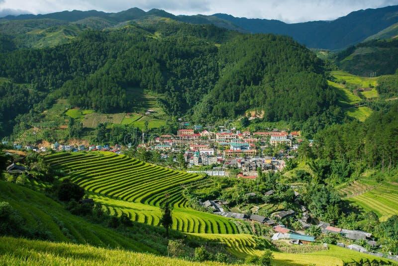 Paesaggio del villaggio di sapa, a nord del Vietnam immagini stock