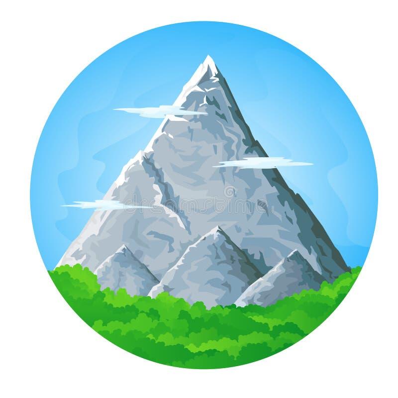 Paesaggio dell'alta montagna illustrazione di stock