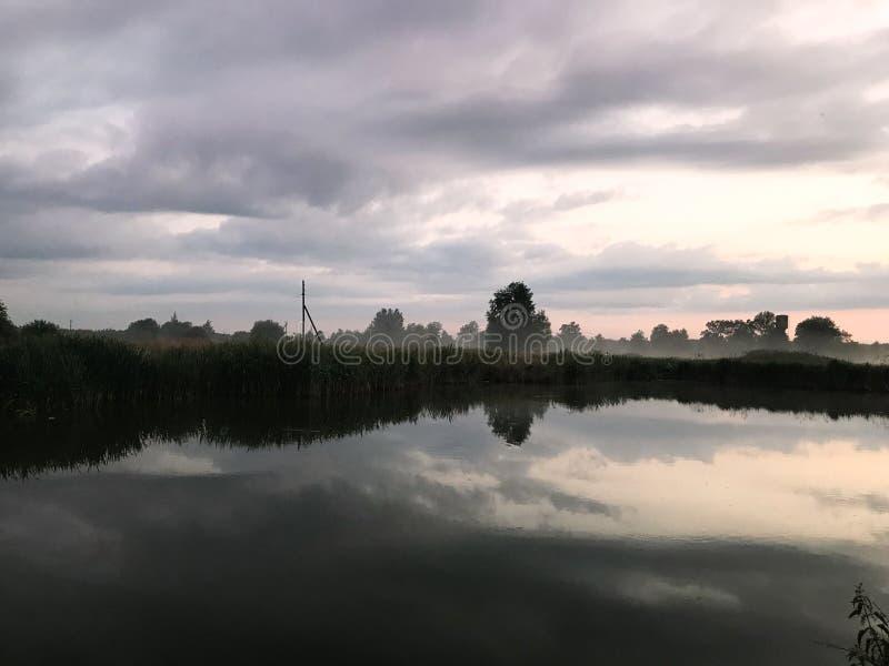 Paesaggio dell'ambiente naturale Tramonto di alba fotografie stock libere da diritti