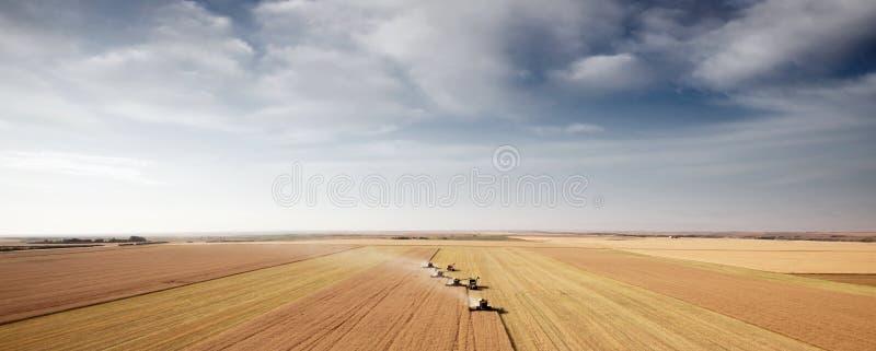 Paesaggio dell'antenna della raccolta immagini stock libere da diritti