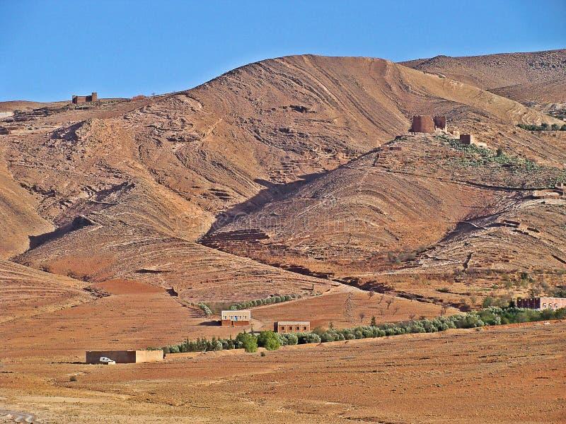 Paesaggio dell'atlante medio, Marocco fotografia stock libera da diritti