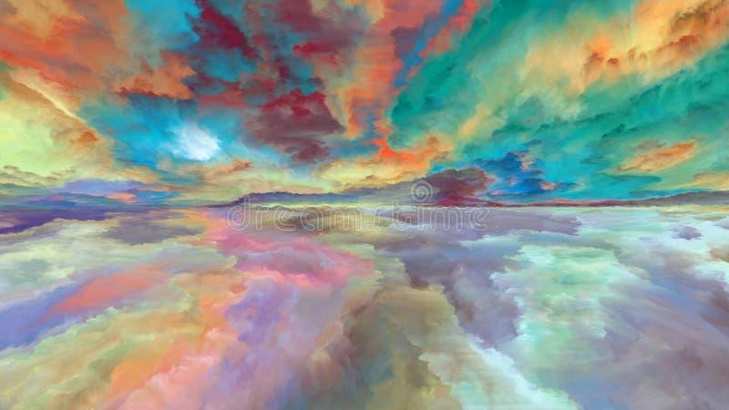 Paesaggio dell'estratto della nuvola illustrazione di stock