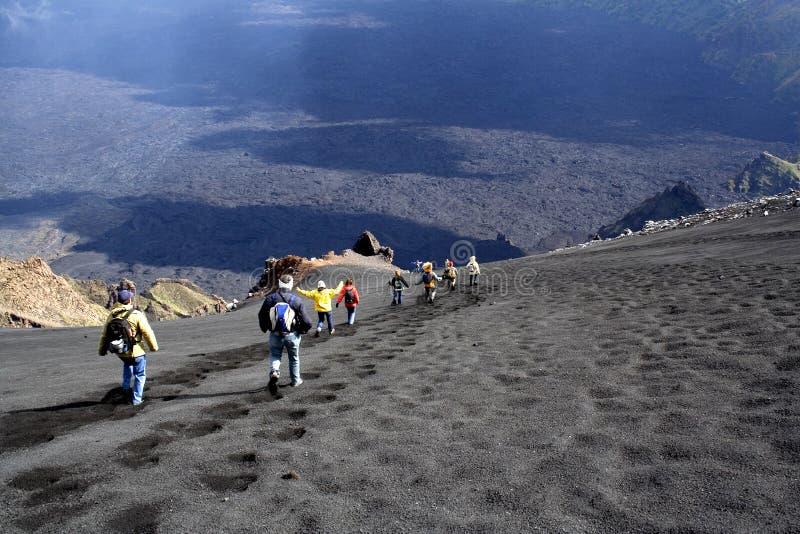 Paesaggio dell'Etna: la discesa fotografia stock libera da diritti