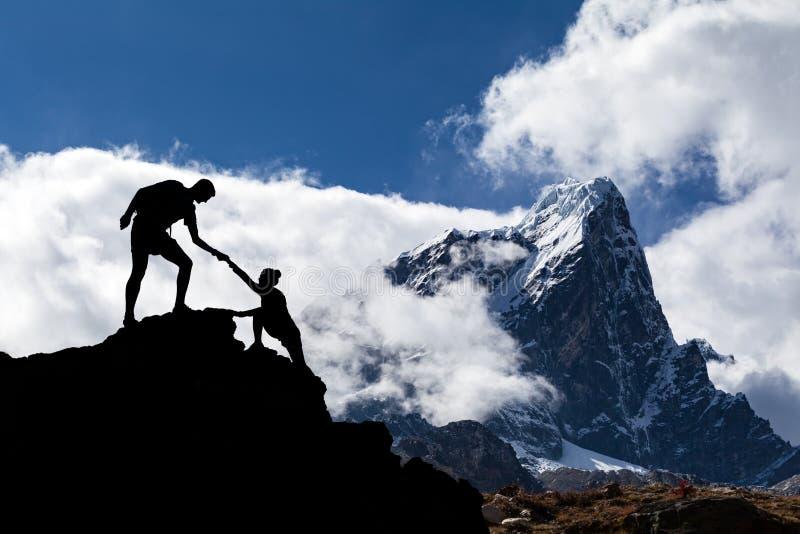 Paesaggio dell'Himalaya nel Nepal fotografia stock