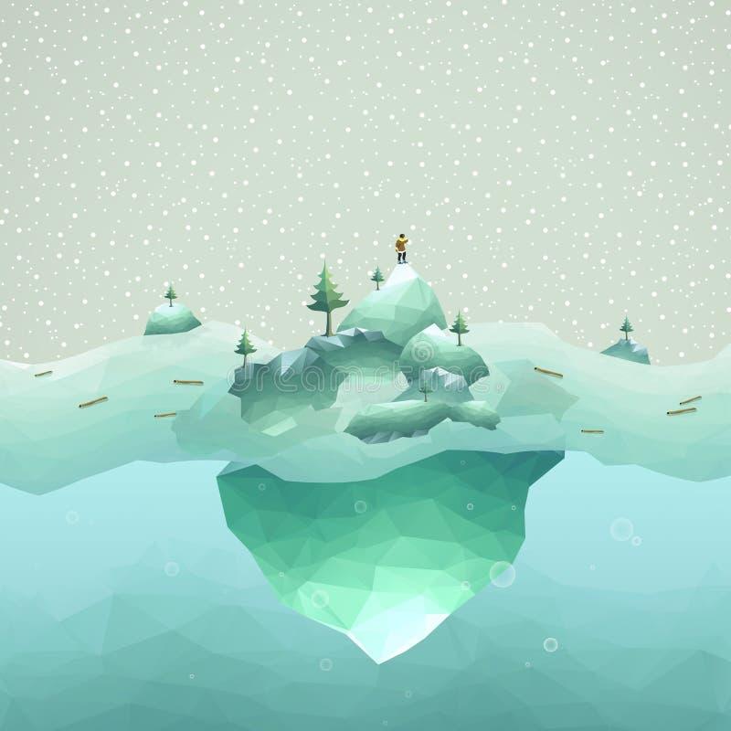 Paesaggio dell'iceberg illustrazione vettoriale