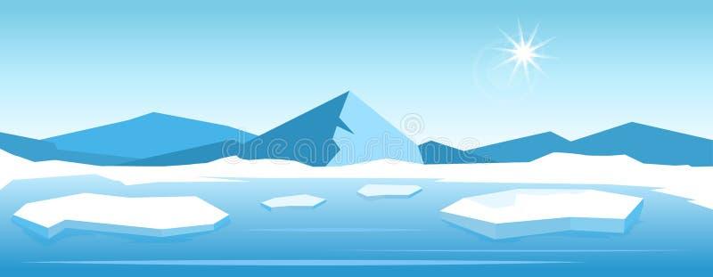 Paesaggio dell'iceberg di vettore royalty illustrazione gratis