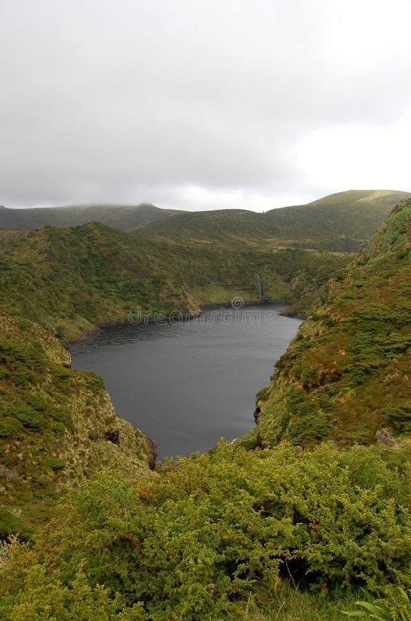 Paesaggio dell'isola del Flores Le Azzorre, Portogallo immagine stock