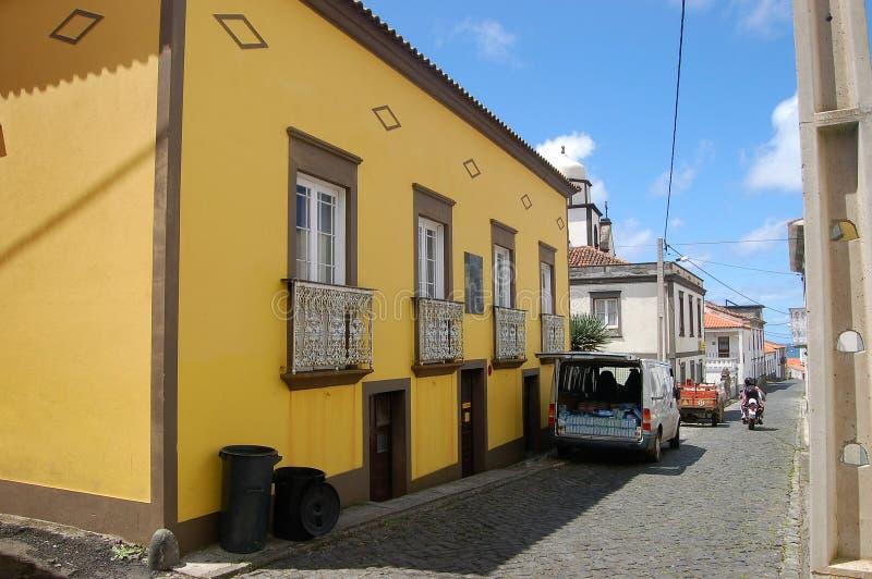 Paesaggio dell'isola del Flores Le Azzorre, Portogallo fotografie stock