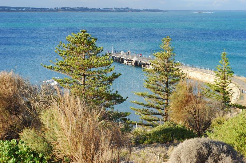 Paesaggio dell'isola del granito, porto del vincitore, Australia del sud, Australia immagini stock