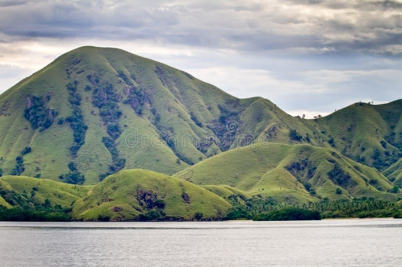 Paesaggio dell'isola di Komodo immagini stock