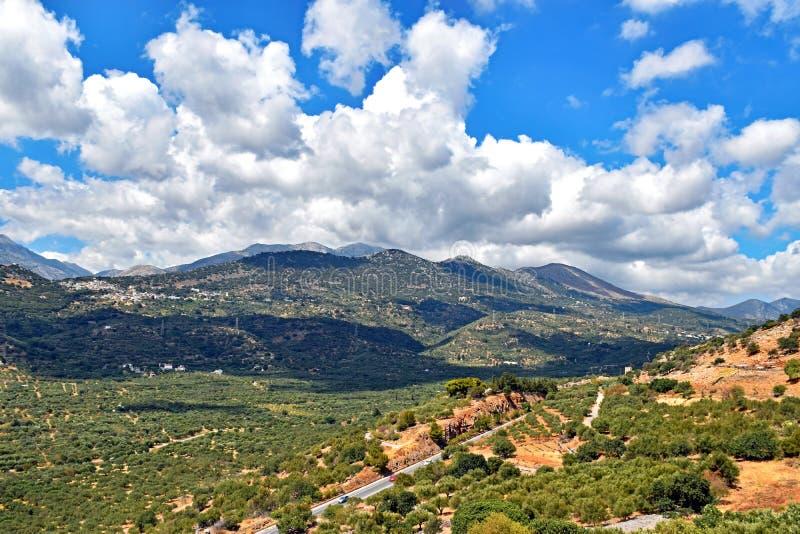 Paesaggio dell'isola Mediterranea Creta in Grecia fotografia stock