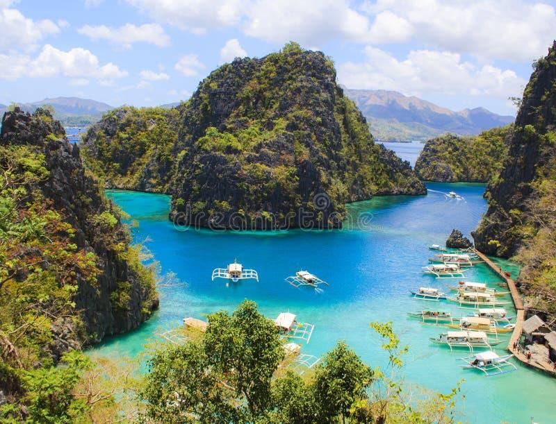 Paesaggio dell'isola tropicale Isola di Coron filippine fotografia stock