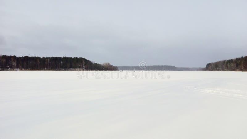 Paesaggio della campagna di inverno fotografia stock
