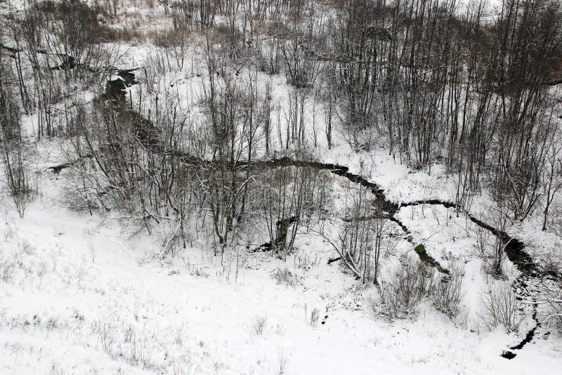 Paesaggio della campagna di inverno fotografie stock