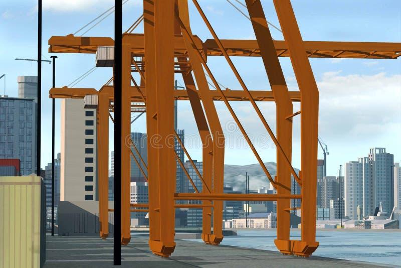 paesaggio della città 3D immagini stock