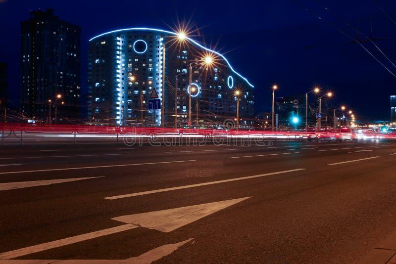 Paesaggio della città di Minsk in Bielorussia immagini stock libere da diritti
