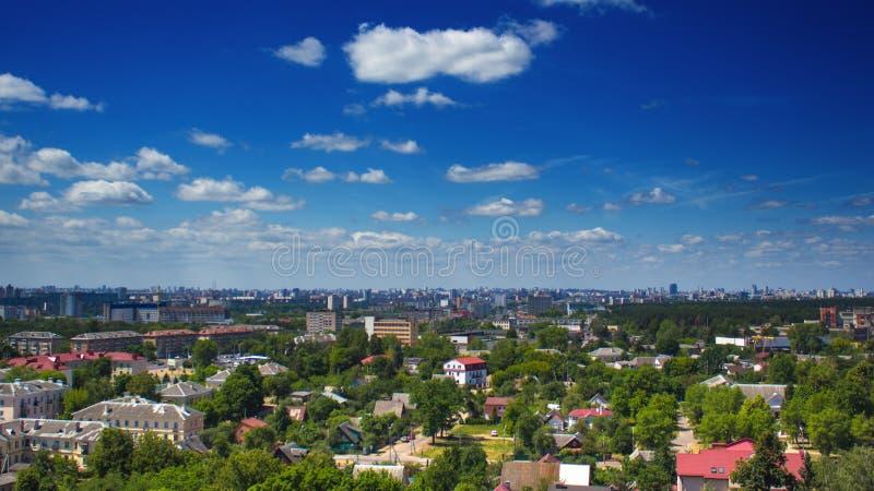 Paesaggio della città di Minsk in Bielorussia fotografia stock