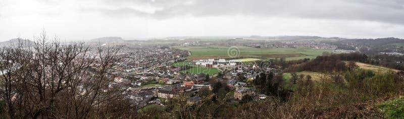 Paesaggio della città di Stirling, Scozia, Regno Unito fotografia stock libera da diritti