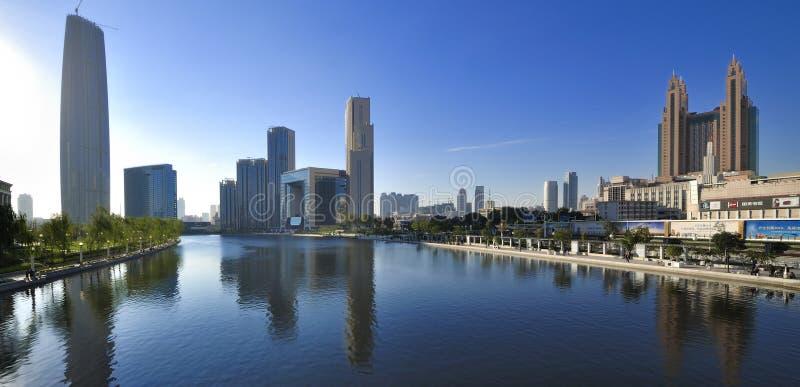 Paesaggio della città di Tianjin fotografia stock libera da diritti