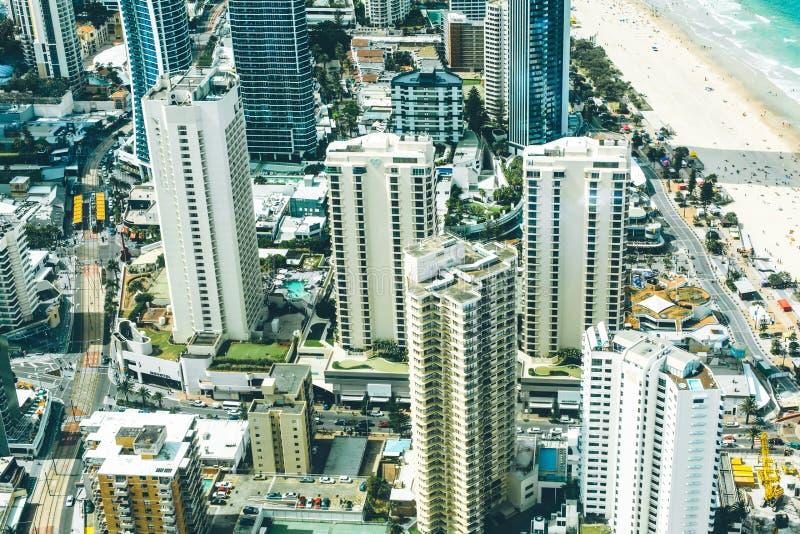 paesaggio della città della Gold Coast Australia fotografia stock libera da diritti
