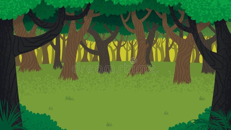 Paesaggio della foresta royalty illustrazione gratis