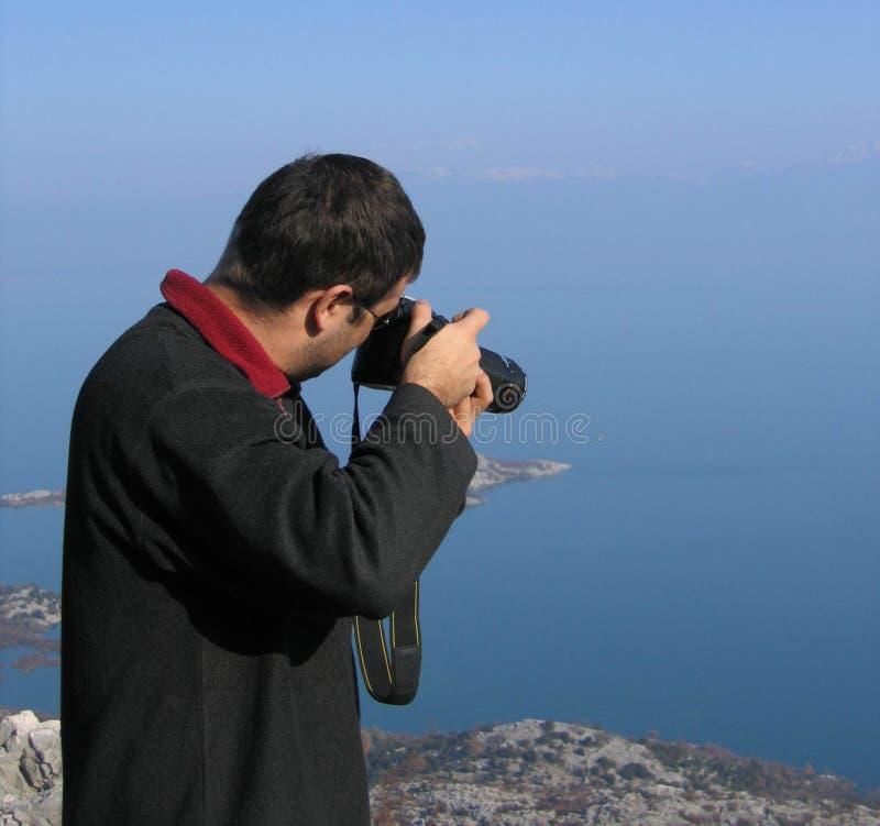 Paesaggio della fucilazione del fotografo fotografia stock