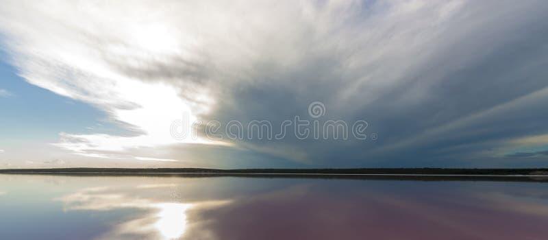 Paesaggio della laguna del sale, fotografie stock