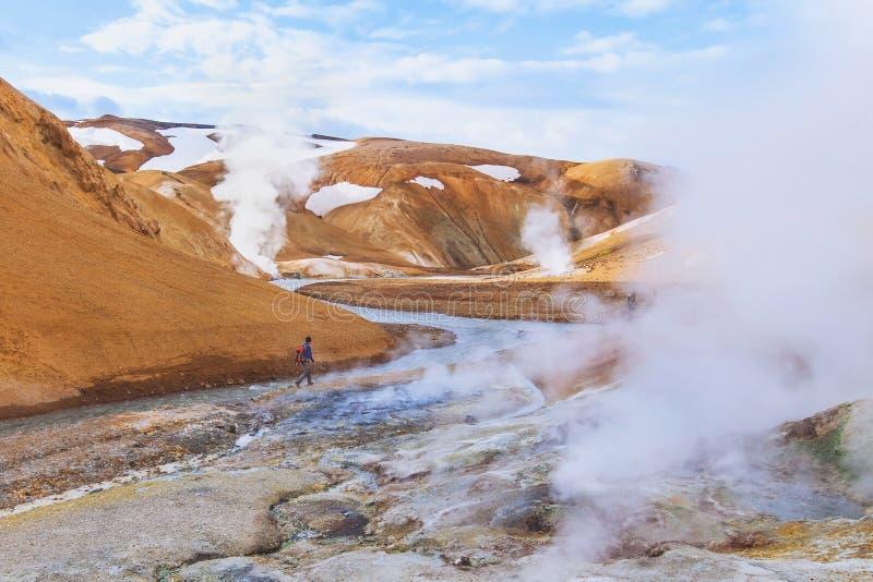Paesaggio della luna dall'Islanda fotografia stock