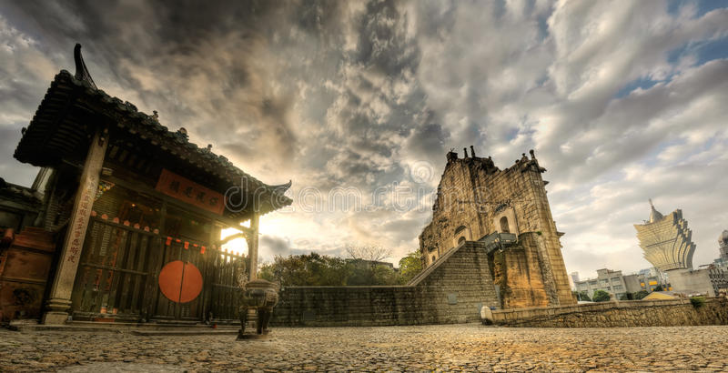 Paesaggio della Macao immagine stock