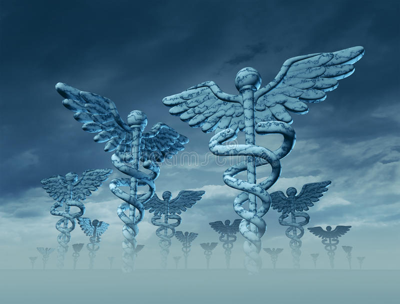 Paesaggio della medicina illustrazione di stock