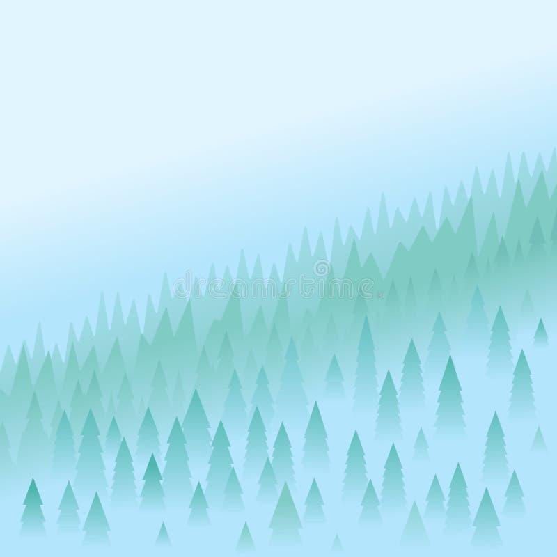 Paesaggio della montagna illustrazione di stock
