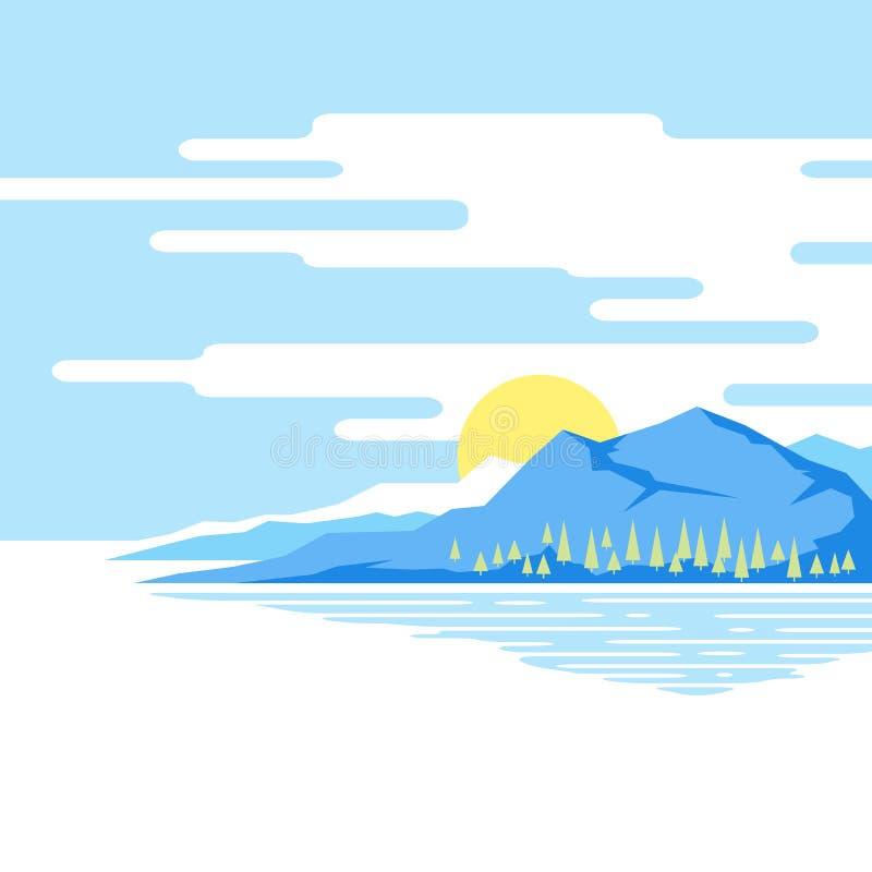 Paesaggio della montagna royalty illustrazione gratis