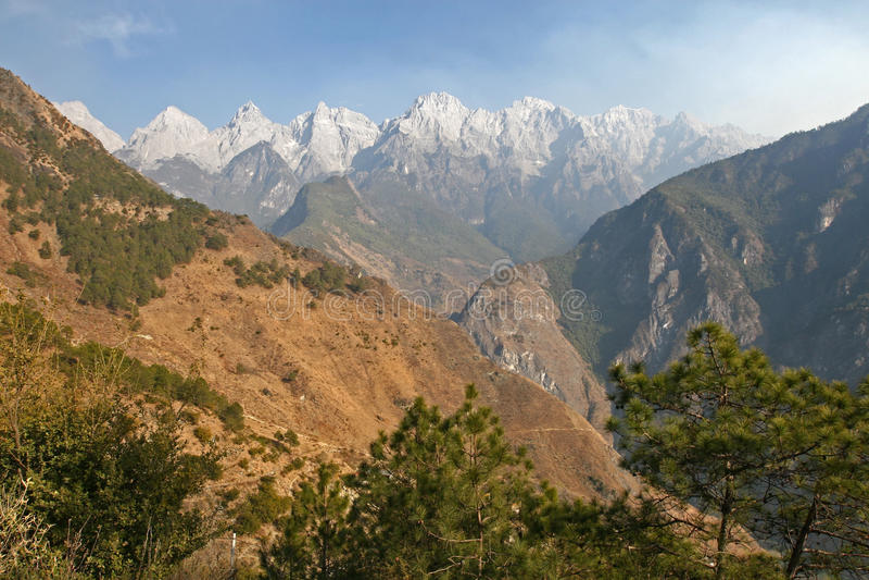 Paesaggio della montagna della Cina fotografia stock