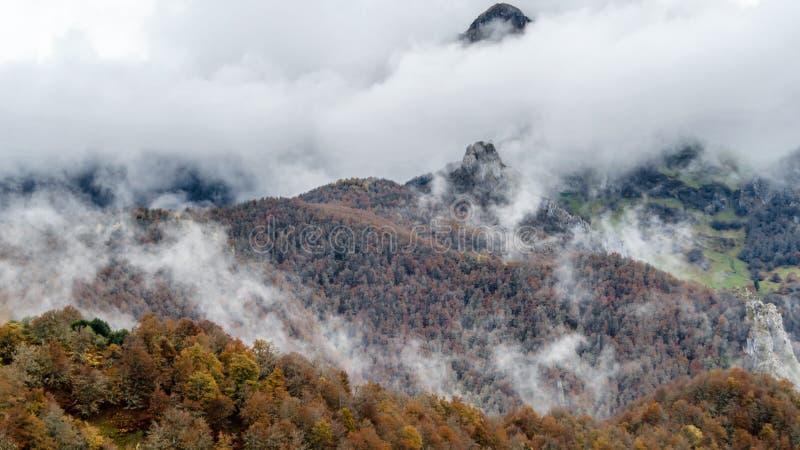 Paesaggio della montagna di autunno fotografia stock libera da diritti