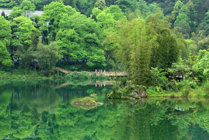 Paesaggio della montagna di Ermei immagini stock libere da diritti