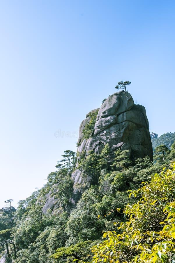 Paesaggio della montagna di Sanqingshan fotografie stock libere da diritti