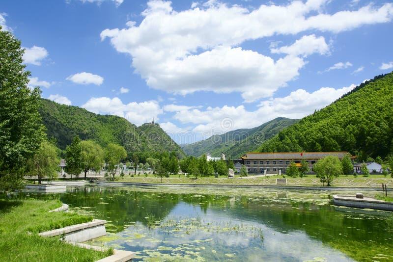 Paesaggio della montagna di Wutai immagini stock libere da diritti