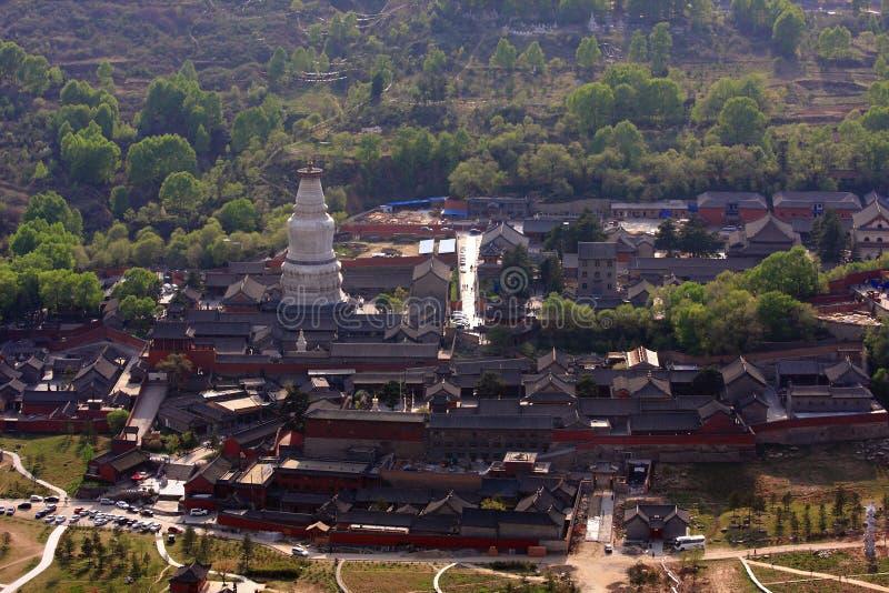 Paesaggio della montagna di Wutai fotografia stock libera da diritti