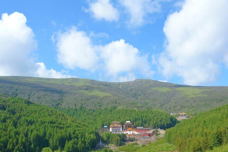 Paesaggio della montagna di Wutai immagine stock libera da diritti