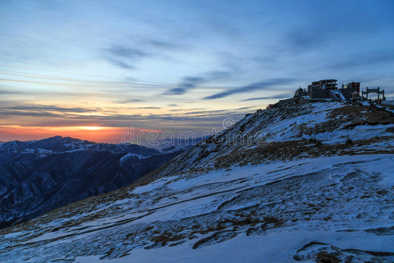 Paesaggio della montagna di Wutai immagine stock
