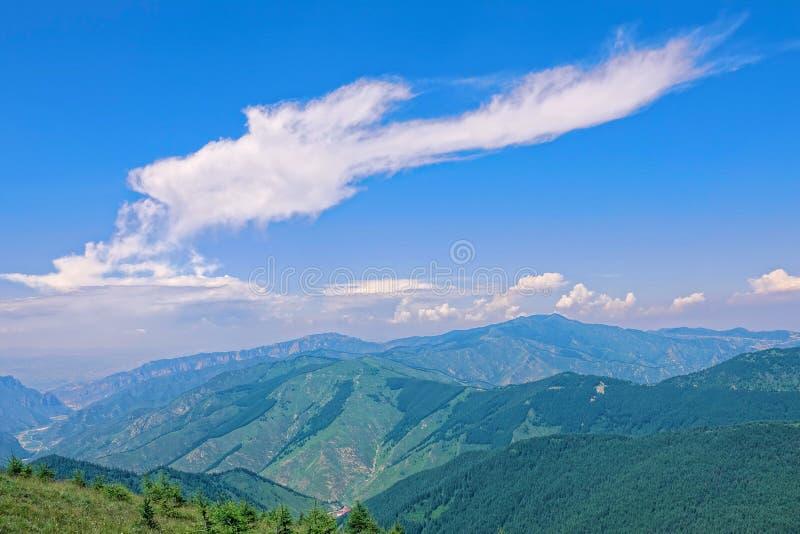 Paesaggio della montagna di Wutai fotografia stock