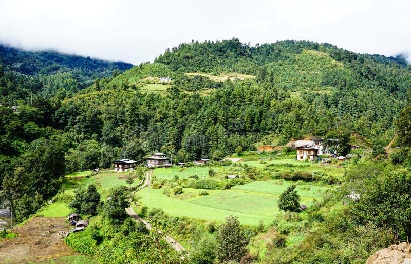 Paesaggio della montagna nel Bhutan immagine stock libera da diritti