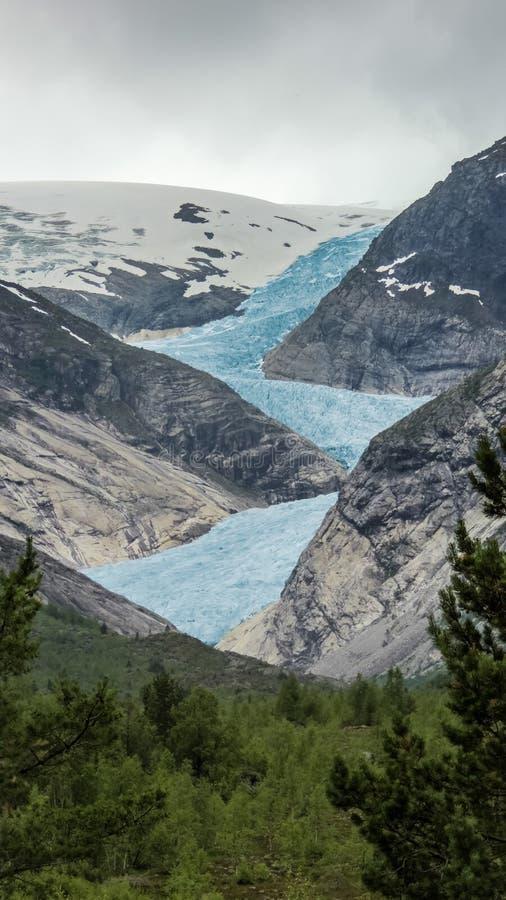 Paesaggio della montagna in Norvegia fotografia stock