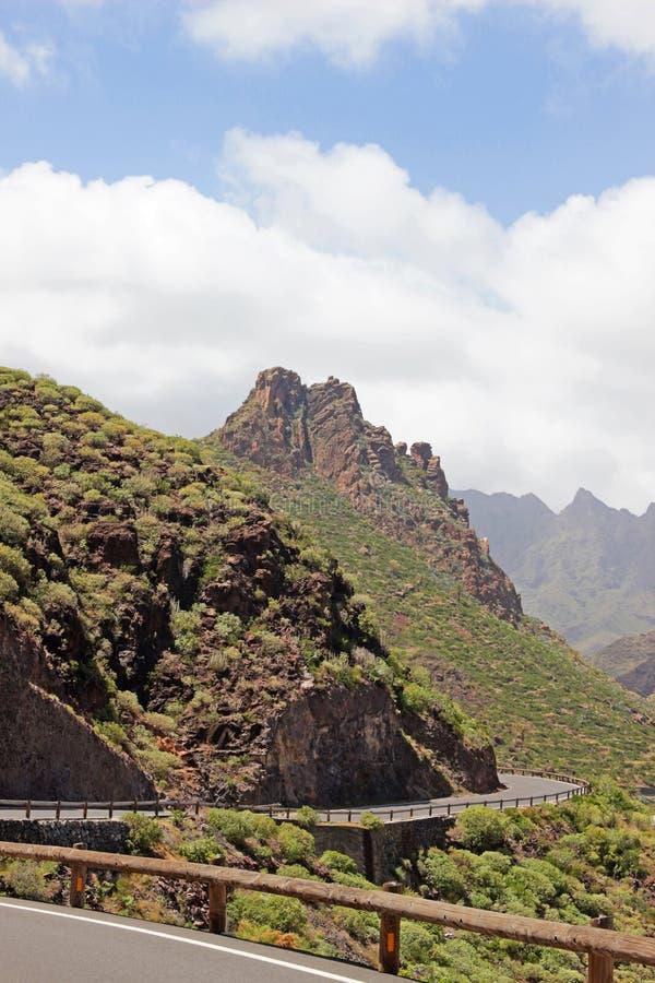 Paesaggio della montagna sull'isola Gomera fotografie stock