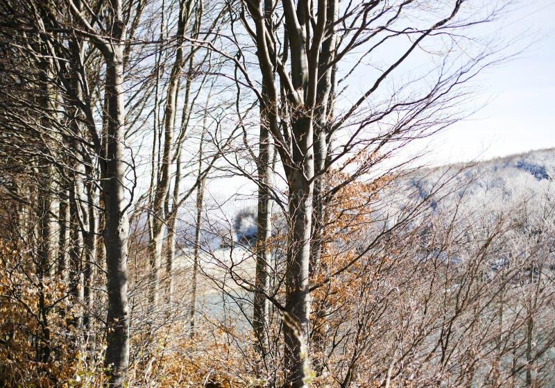 Paesaggio della montagna in Toscana fotografie stock