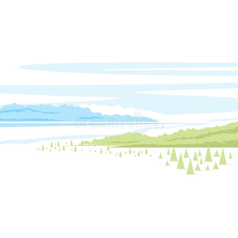 Paesaggio della natura illustrazione vettoriale